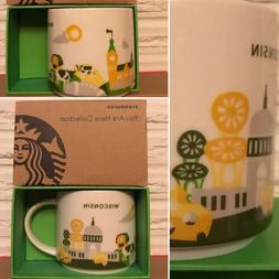 NWT Starbucks YAH Coffee Cup Wisconsin V.1 You Are Here Mug
