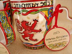 "NWT ""The Rampant Lion"" Scottish Weave Bone China Mug Cup Cla"