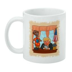 Obama Laughing at Trump Funny President White Mug