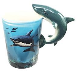 Ocean Marine Reef Great White Shark 12oz Ceramic Mug Coffee