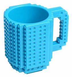 OliaDesign Blue Build-On Brick Mug BPA-free 12 oz Dining Ent