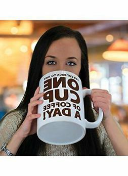 BigMouth Inc. One Cup of Coffee Gigantic Mug, Funny Huge Cer