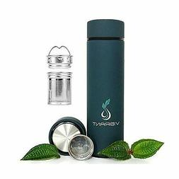 VIBRANT ALL IN ONE Travel Mug - TEA INFUSER Bottle - Insulat