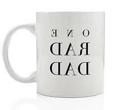 One Rad Dad Coffee Mug Gift Idea Simple Cool Father Dadlife