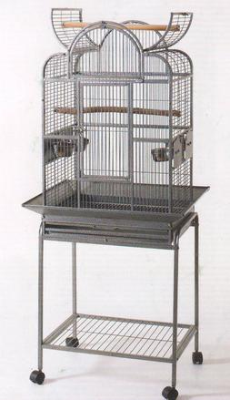 NEW Open Play Top Wrought Iron Bird Small Parrot Cage W/Remo