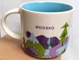 Oregon You Are Here Starbucks Mug 14 oz