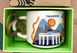 Starbucks Ornament 2oz Mug GERMANY YAH You Are Here Espresso