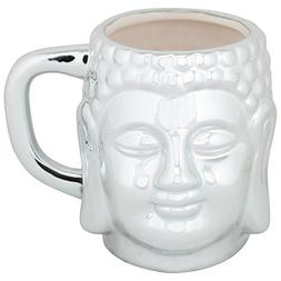 10 Strawberry Street Oversized Buddha Mug, 20 Oz, Silver