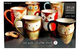Owl City - 6pc Ceramic Owl Mug Set