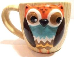 Owl coffee tea mug 12oz ceramic new kitsch kitchen gift cute