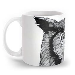 Society6 Owl Mug 11 oz