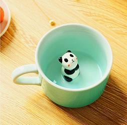 Panda 3D Morning Mug Animal Cup, Best Office Cup 8 Ounce