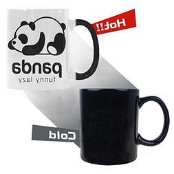 InterestPrint Panda Bear Morphing Mug Heat Sensitive Color C