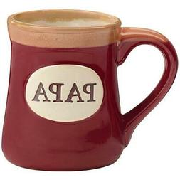 Papa Best Job Ever Porcelain Burgundy Coffee Tea Mug Cup 18o