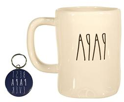 Rae Dunn PAPA Mug Coffee Cup Gift Set with Coordinating Best
