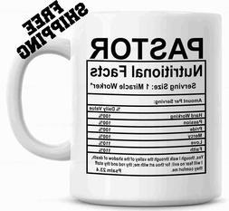 Pastor Nutritional Facts Mug Gift for Preacher Christmas Gif