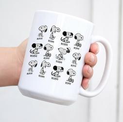 Peanuts Anniversary Snoopy Coffee Mug Funny Cute