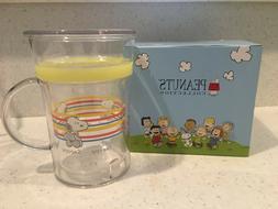 PEANUTS SNOOPY GLASS MUG WITH LID