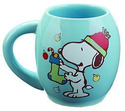 Peanuts Snoopy Holiday 18 Oz. Oval Mug