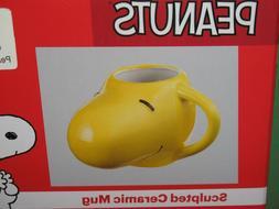 Peanuts Snoopy Sculpted Ceramic Mug 16 oz. &  Woodstock Mug
