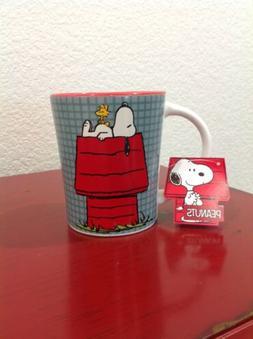 PEANUTS Snoopy Woodstock Coffee Cup/Mug Red Dog House Blue C