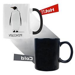 InterestPrint Penguin Morphing Mug Heat Sensitive Color Chan