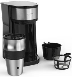 Personal 1 Cup Pod Brewer Coffee Maker Mug Single Serve Trav