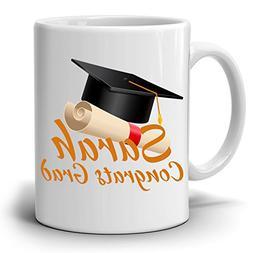 Personalized! Congrats Grad Gift Cap Coffee Mug, College Gra