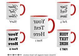 Personalized Custom Text on Mugs Ceramic Coffee Mugs Customi
