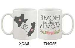 Personalized Long Distance Relationship Mugs for Mom - Home