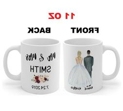 personalized mr and mrs mugs wedding couple