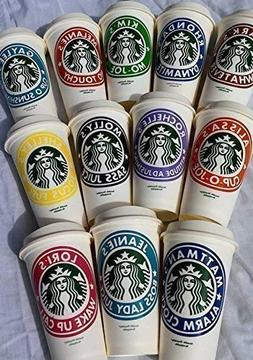 Personalized Reusable Starbucks Coffee Cup 16oz - SHIPS FREE