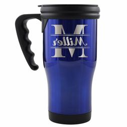Personalized Travel Tumbler Coffee Mug with Handle - Engrave