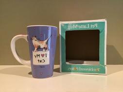 Tumbleweed Pottery Pet Latte Mug I Love My Cat by Linda Gray