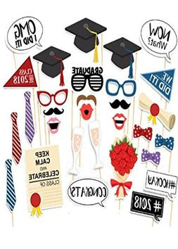 Photo Booth Props Graduation 2018 Party Supplies Decorations