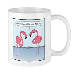 CafePress Pink Flamingos Mug 11 oz Ceramic Mug