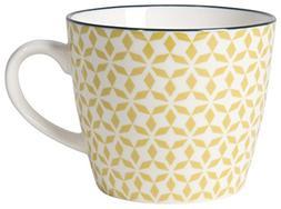 Now Designs Pinwheels Stamped Mugs , 12 oz, White/Light Gree