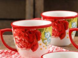 Pioneer Woman Stoneware Blossom Jubilee Floral 16 Oz Mugs Cu