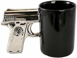 Pistol Grip 12oz Coffee Mug - Microwave Safe - Handwash Only