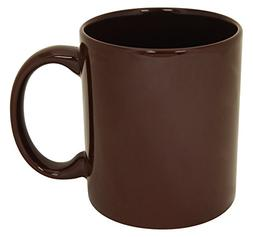 Funny Guy Mugs Plain Brown Ceramic Coffee Mug, Brown, 11-Oun