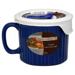CORNINGWARE Colours Pop-Ins Blueberry 20-oz Mug w/ Vented Co