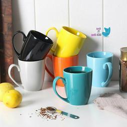 Porcelain Coffee Mug Set Of Six Tea Cocoa Colorful Mugs Larg