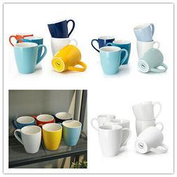 Sweese Porcelain Mugs - 16 Ounce for Coffee, Tea, Cocoa, Set
