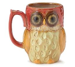 porcelain owl coffee tea mug