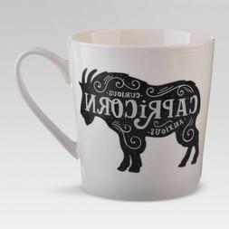 Porcelain Zodiac Mug 18oz White-Capricorn