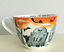 Portobello RIP HALLOWEEN Bone China Coffee Mug Cup 18oz Tomb
