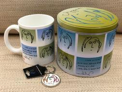 John Lennon - Portrait Gift Set - Tin, Ceremic Mug, Keyring