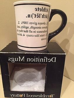 Tumbleweed Pottery Definition Mug:  ATHLETE