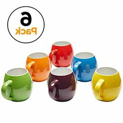 Amethya Premium Ceramic Set of 6, Colorful Meal Stoneware