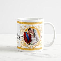 Zazzle Prince William & Catherine Wedding Kiss Mug, White Cl